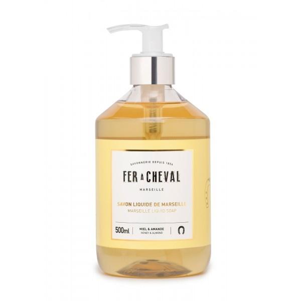 Vloeibare geparfumeerde marseille zeep met  honing & amandel 500ml-1