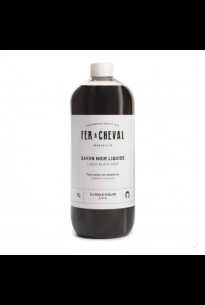 Vloeibare zwarte marseille zeep 1 liter