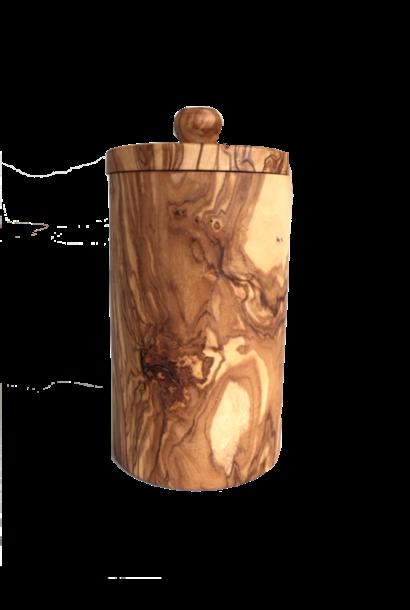Kruidenpot uit olijfhout