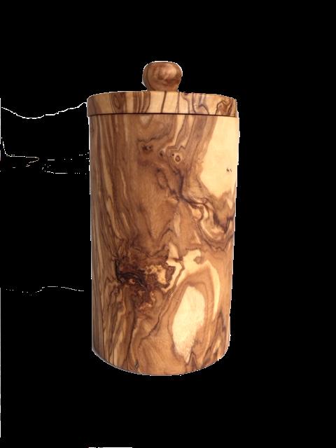 Kruidenpot uit olijfhout-1
