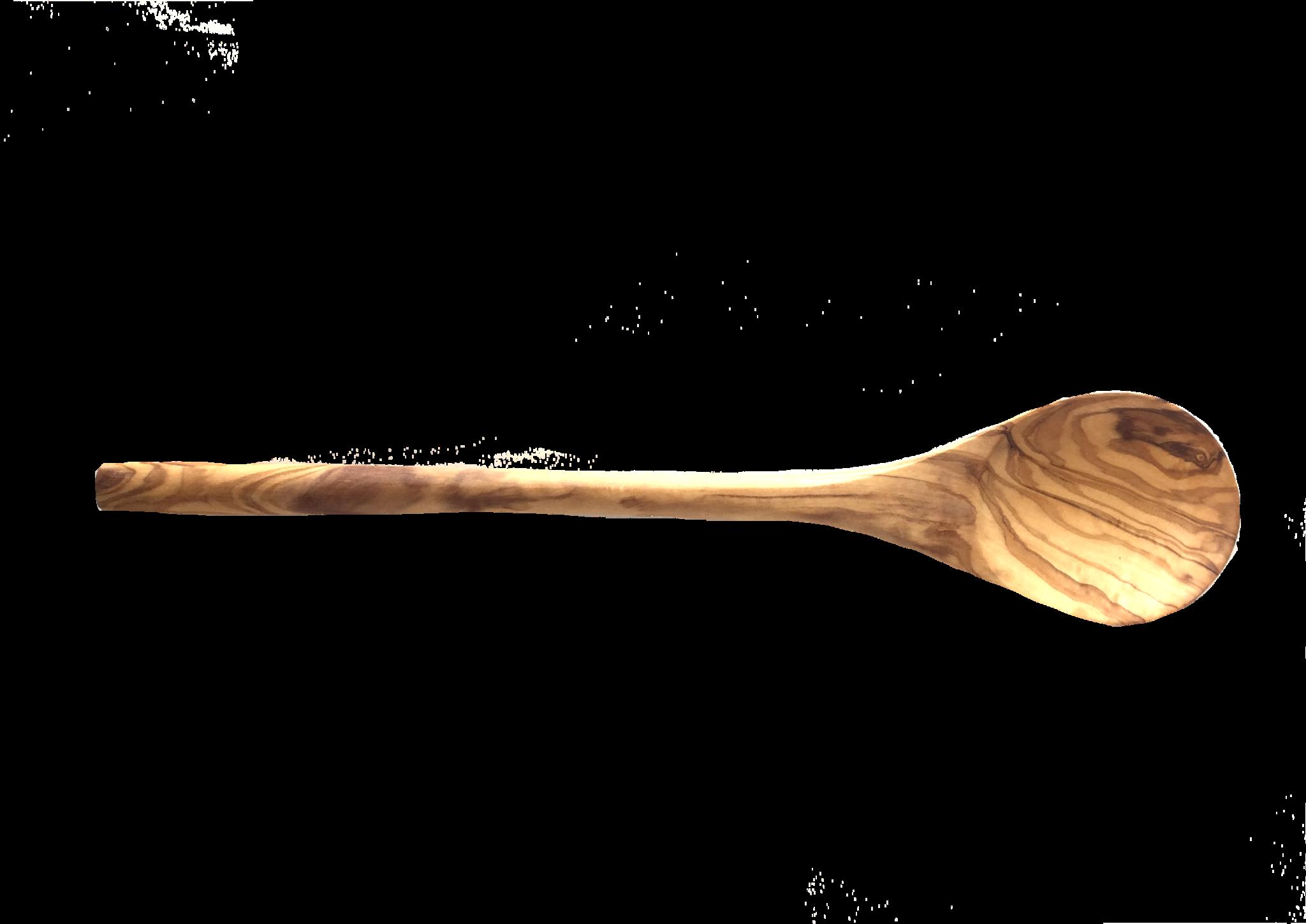 Roerlepel uit olijfhout roerlepel rond 30 cm-1
