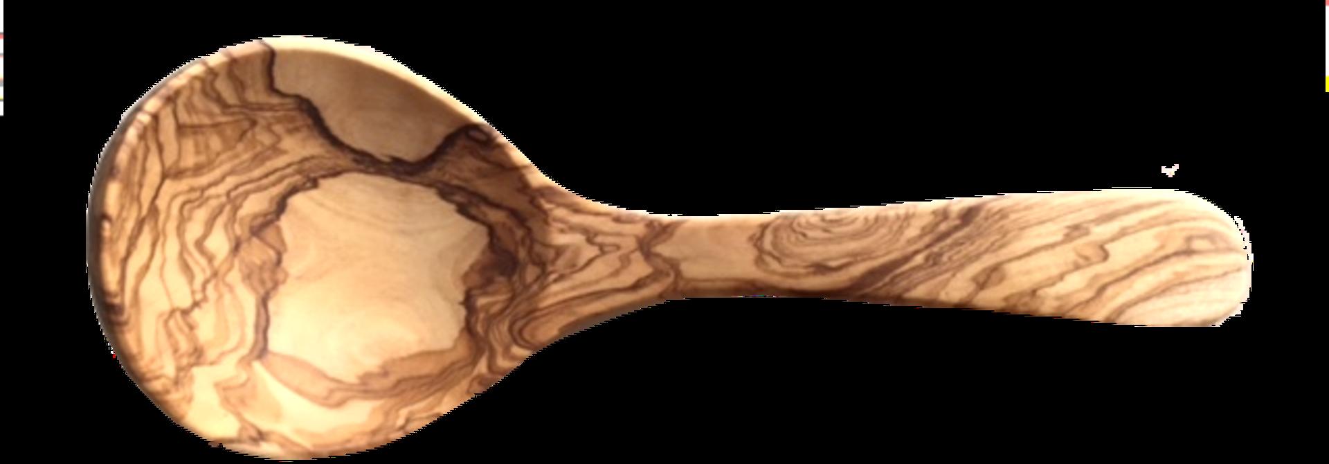 Roerlepel uit olijfhout scheplepel diep 25 cm