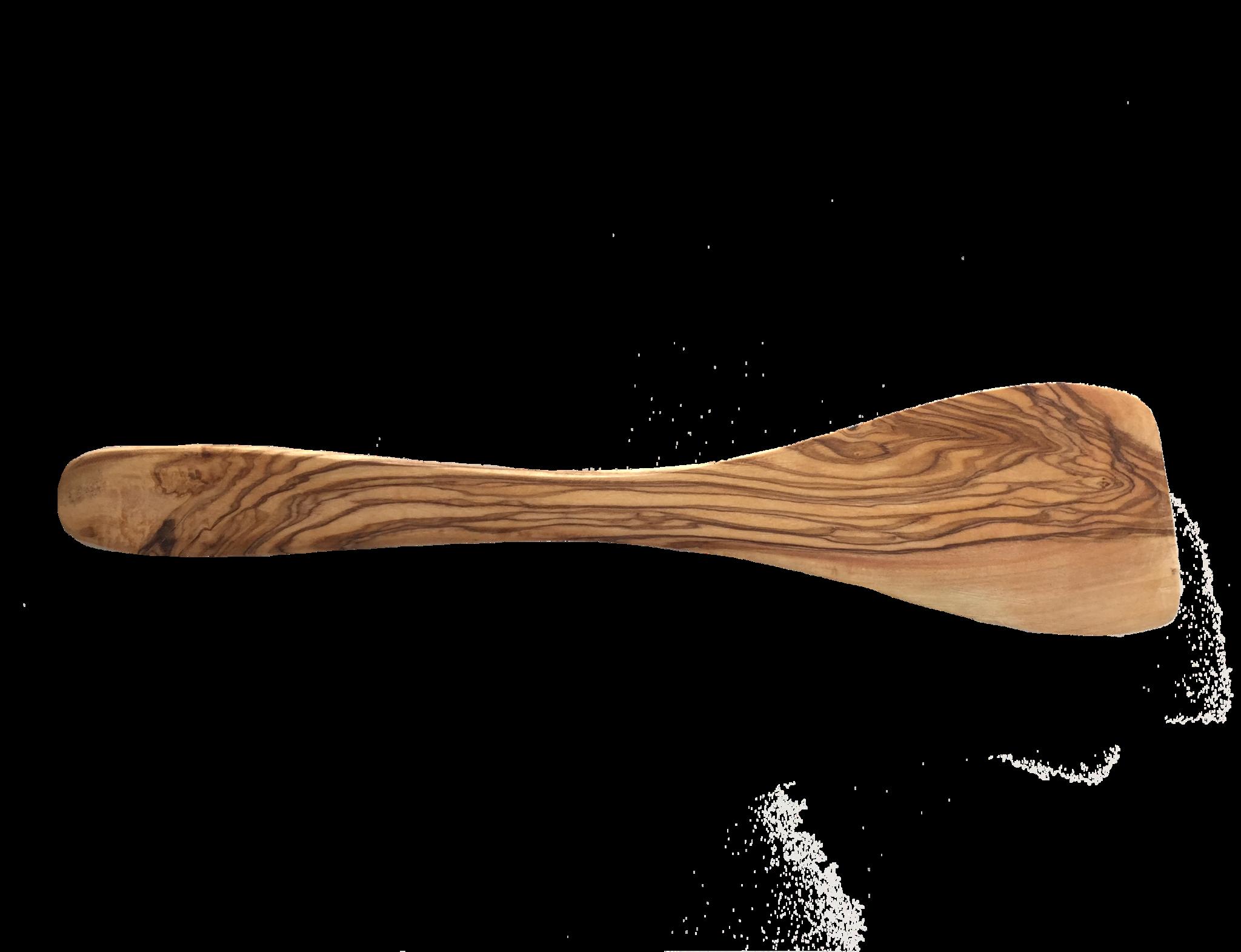 Spatel uit olijfhout vlak 30 cm-1