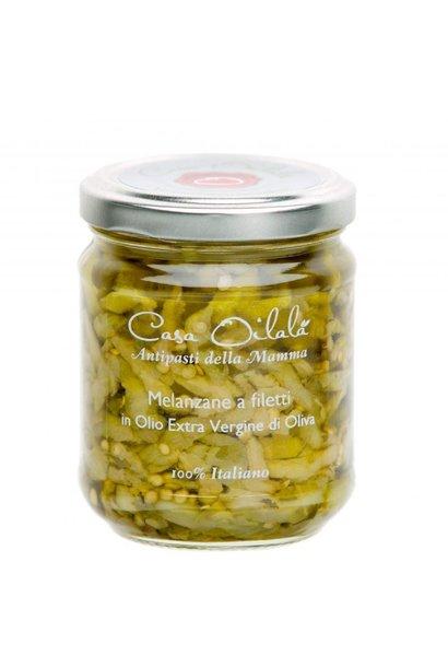 Aubergineschijfjes op olijfolie 190g