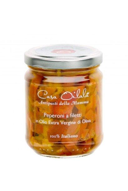 Paprikaschijfjes op  olijfolie 190g