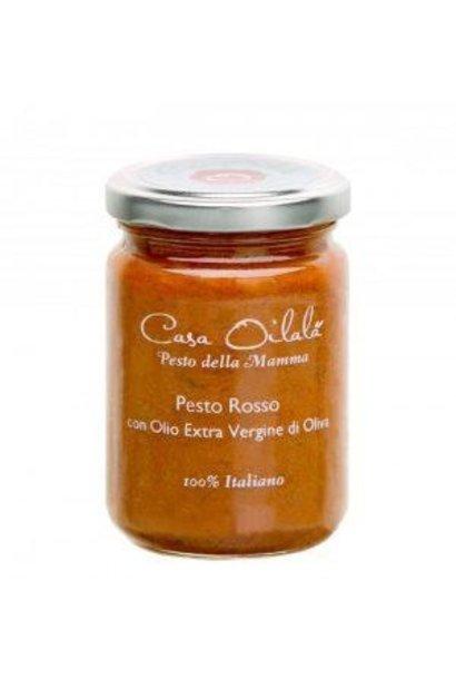 Pesto zongedroogde tomaten met olijfolie 140g