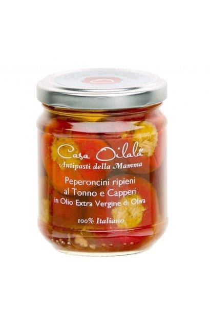 Gevulde paprika met tonijn op olijfolie 190g