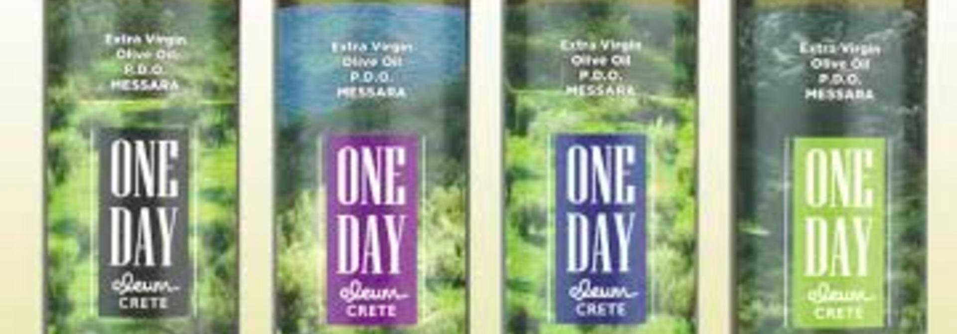 One Day Extra Virgin olijfolie Kydonakis 500ml glas