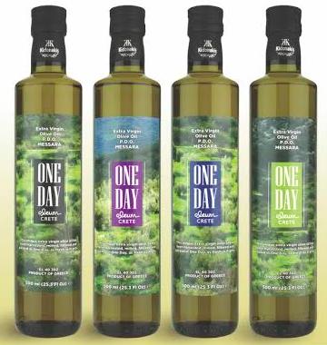One Day Extra Virgin olijfolie Kydonakis 500ml glas-1