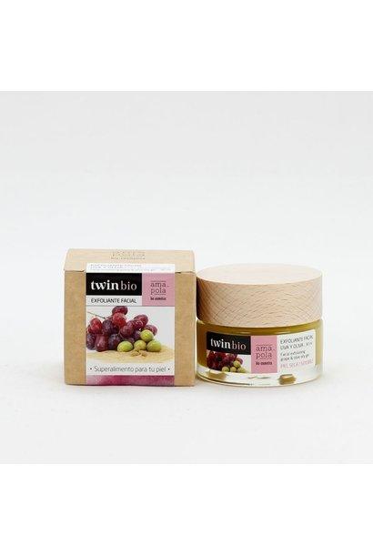 TwinBio gezichtscrub met druif en olijf Amapola 30ml