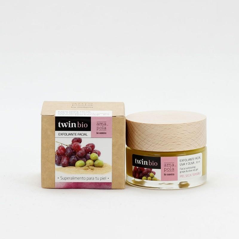 TwinBio gezichtscrub met druif en olijf Amapola 30ml-1