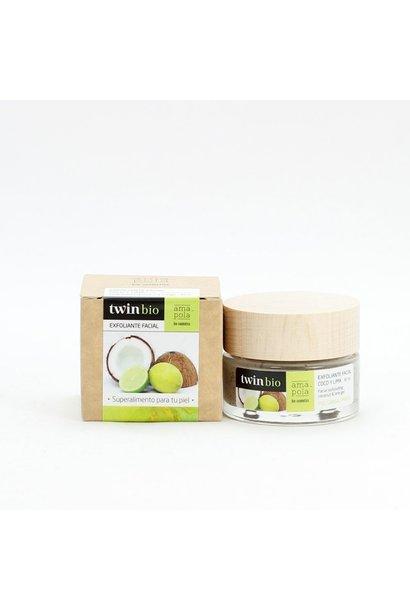 TwinBio gezichtscrub met kokos en limoen Amapola 30ml