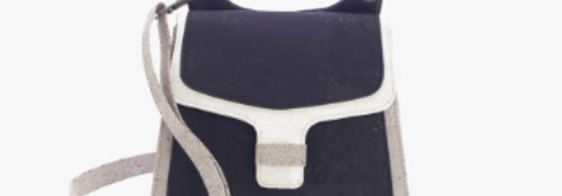 7802.04 Handtas zwart-wit