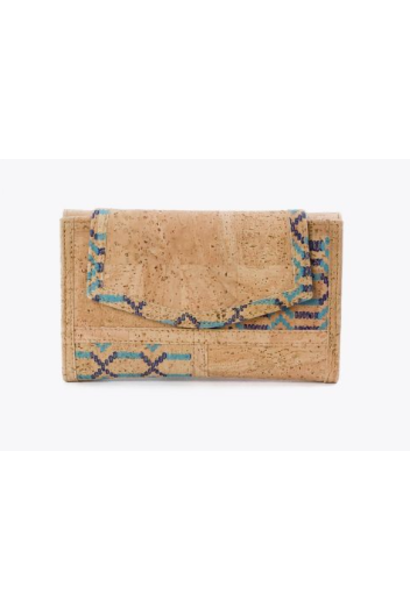 7230.27 Women's wallet blauw beige