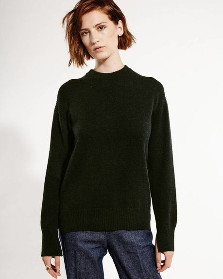 Anne alpaca crewneck / forest green