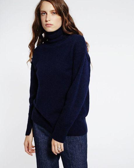 Leah Alpaca Roller / navy