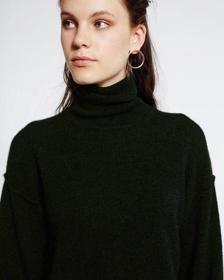 Leah Alpaca Roller / forest green