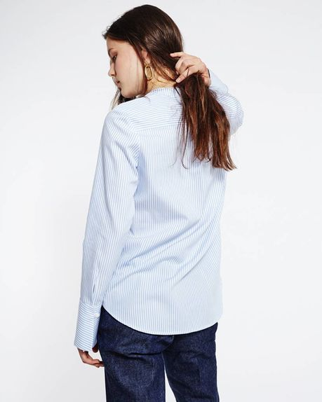 Taylor Tencel shirt / blue stripe