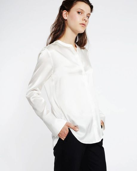 Lola organic silk shirt / off white