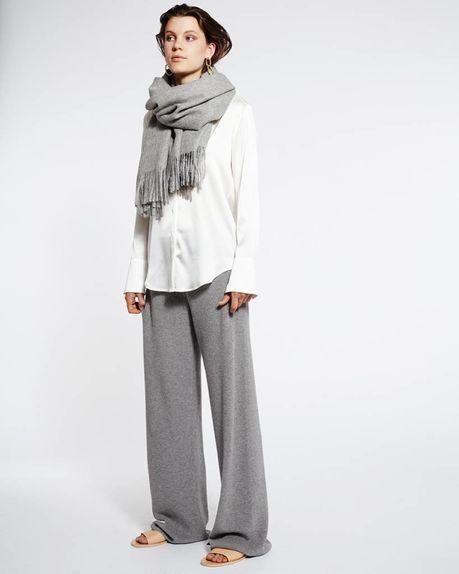 Karin alpaca scarf / light grey