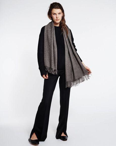 Karin alpaca scarf / anthracite