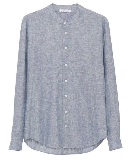 Terry chambray shirt / indigo melange