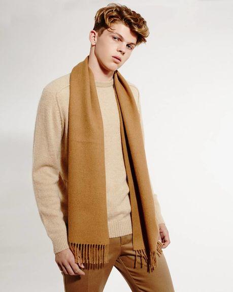 Ludo alpaca scarf / camel