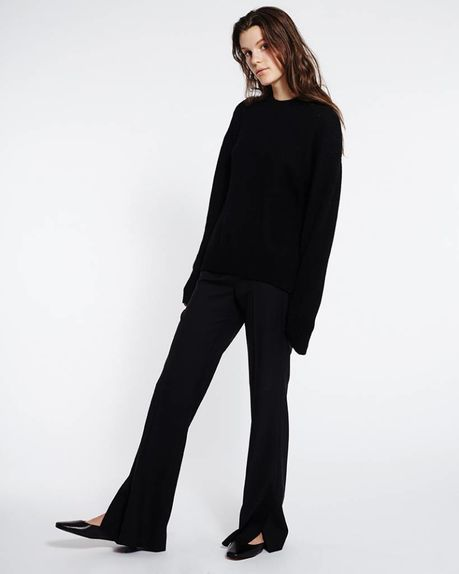 Suzy wool slacks / black