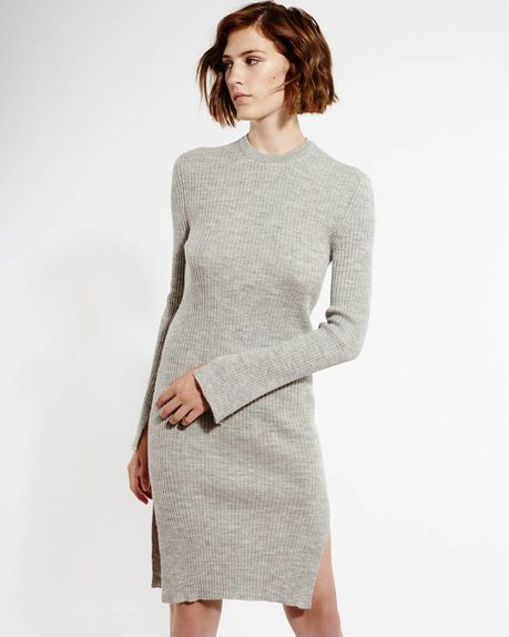 Charlie Tunic Dress / light grey