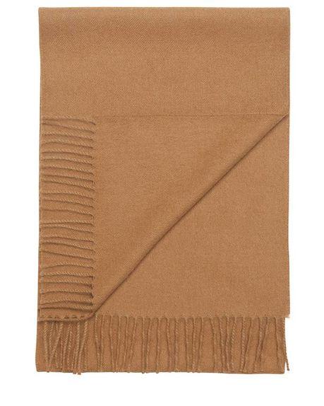 Ludo large alpaca scarf / camel