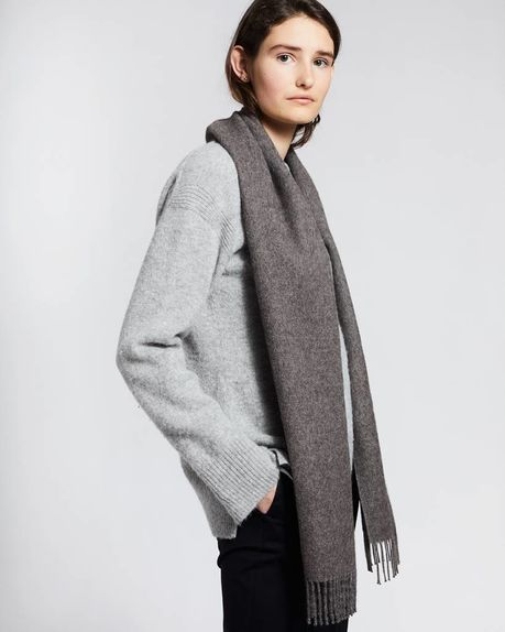 Karin small alpaca scarf / anthracite