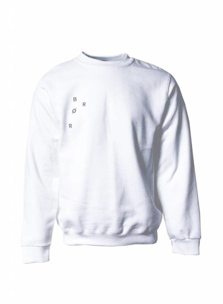 BROR white  minimal sweater
