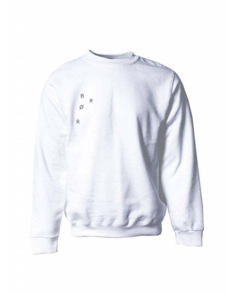 BROR white  minimal sweater