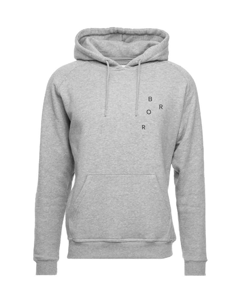 BROR Grey minimal hoodie