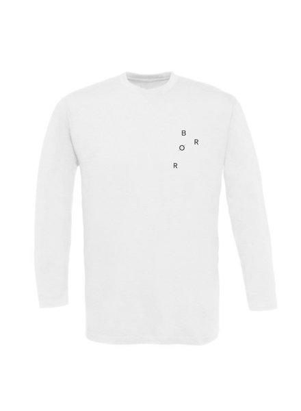 BROR White Long Sleeve Minimal