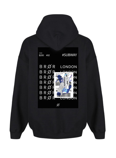 BROR Black hoodie London ticket