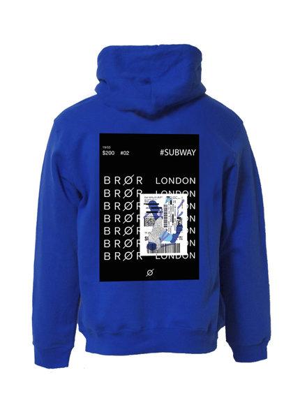 BROR Blue hoodie London ticket