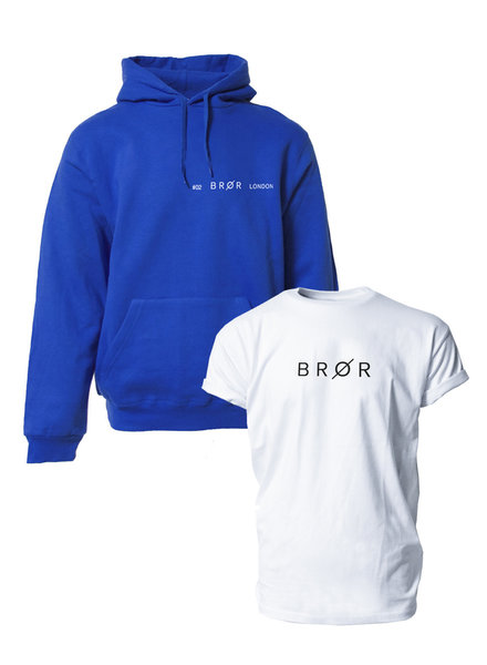 BROR Blue hoodie combination