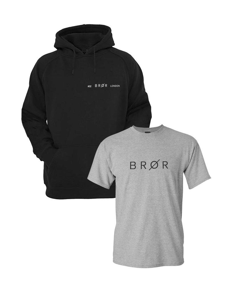 BROR Black  hoodie combination