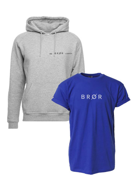 BROR Grey  hoodie combination