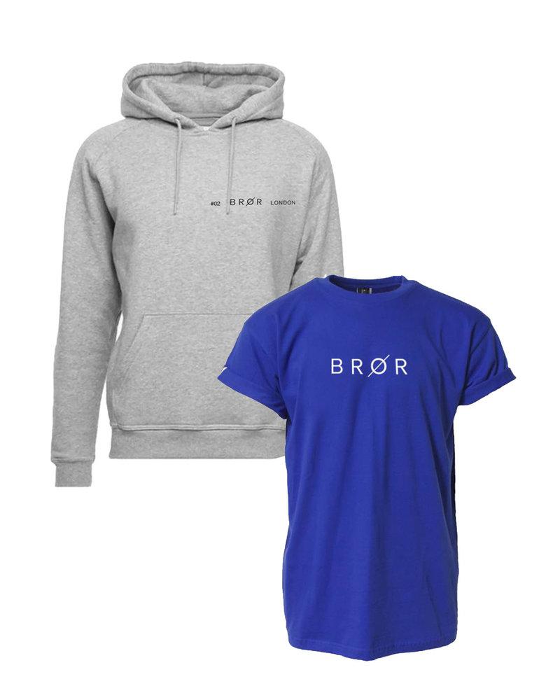 BROR Grey  hoodie combination