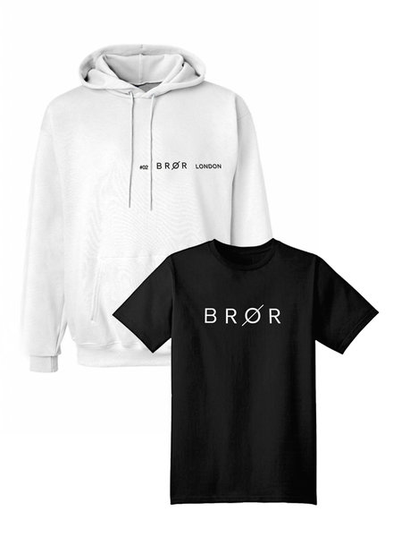 BROR White  hoodie combination