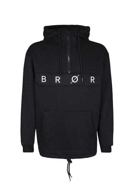 BROR Black pull over hoodie