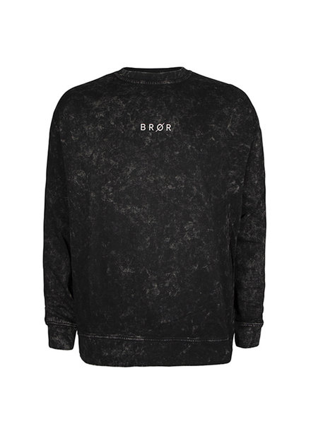 BROR Black Tie Dye Sweater