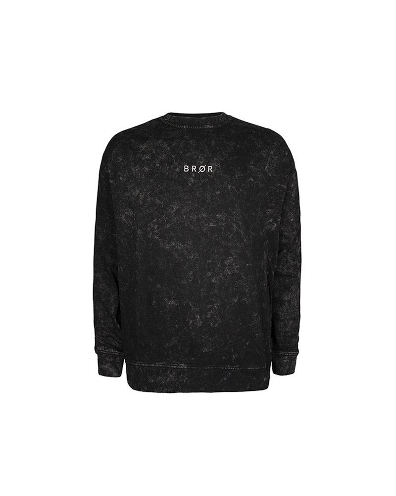 BROR Black Tie Dye Sweater