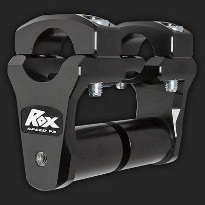 """ROX Speed FX Pivoting Handlebar Risers 51mm (2"""") for 28mm (1 1/8"""") Handlebars (Extended stem)"""