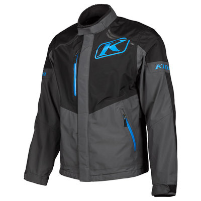 KLIM Traverse Motorcycle Jacket - Black-Kinetik Blue
