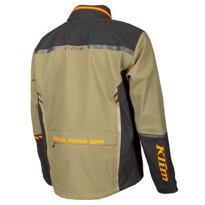 KLIM Enduro S4 Jacket - Burnt Olive - Strike Orange