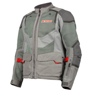 KLIM Baja S4 Jas - Cool Gray - Red Rock