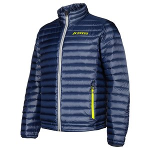 KLIM Maverick Down Jacket - Navy Blue High-Vis